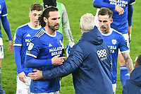 Football - 2020 / 2021 Sky Bet Championship - Swansea City vs Cardiff City - Liberty Stadium<br /> <br /> Cardiff City manager Mick McCarthy congratulates Sean Morrison Cardiff City  after the final whistlein the South Wales local derby match<br /> <br /> COLORSPORT/WINSTON BYNORTH