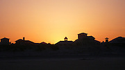 Beachfront homes at sunset, Florida