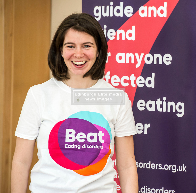 Pictured: Constance Barter, BEAT young ambassador<br /> Today Mental Health Minister Maureen Watt vsiisted the Royal Hospital in Edinburgh to help aunch the online resource aimed at young people in this Eating Disorders Awareness Week, While thee she met two two Beat ambassadors, Constance Barter and Ballari Conner<br /> <br /> Ger Harley | EEm 28 Fbruary 2018