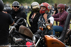 Just arriving at the Born Free Motorcycle Show (BF11) at Oak Canyon Ranch, Silverado  CA, USA. Saturday, June 22, 2019. Photography ©2019 Michael Lichter.