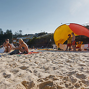 The beach of Bondi on saturday.