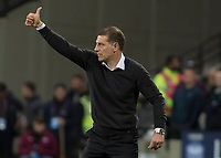 Football - 2017 / 2018 Premier League - West Ham United Vs Huddersfield Town<br /> <br /> Slaven Bilic, Manager of West Ham United, gives a thumbs up at the end of the game at the London Stadium<br /> <br /> COLORSPORT/DANIEL BEARHAM