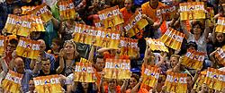 01-06-2014 NED: WLV Nederland - Zuid Korea, Eindhoven<br /> Oranje support publiek block
