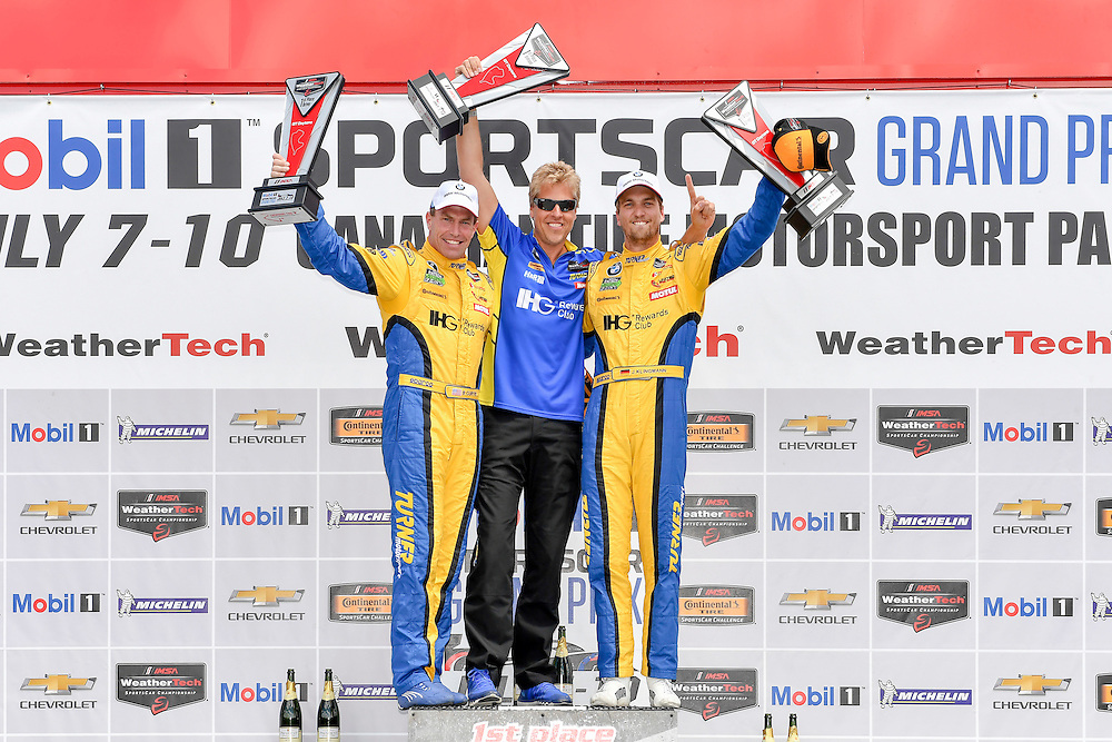 7-10 July 2016, Bowmanville, Ontario Canada<br /> GTD, winners podium, 96, BMW, M6 GT3, GTD, Bret Curtis, Jens Klingmann<br /> ©2016, Scott R LePage <br /> LAT Photo USA