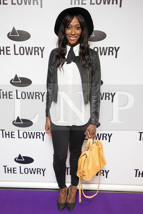 © Licensed to London News Pictures . 30/08/2017 . Salford , UK . Victoria Ekanoye . Purple carpet photos of celebrities, actors and invited guests arriving for the press night of the musical comedy , Addams Family , at the Lowry Theatre . Photo credit : Joel Goodman/LNP
