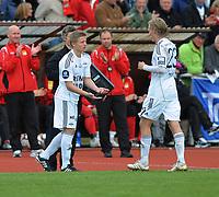 Fotball NM Cup Stjørdalsblink - Rosenborg<br /> Øverlands Minde, Stjørdal 13 mai 2010<br /> <br /> Fredrik Midtsjø kommer inn for Gjermund Åsen hos Rosenborg<br /> <br /> Foto : Arve Johnsen, Digitalsport