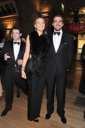 PRINCE & PRINCESS NIKOLAOS OF GREECE at the annual Chain of Hope's annual Gala Ball held at the Natural History Museum, London on 8th November 2012.