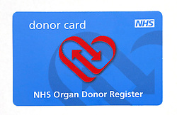 File photo dated 10/07/14 of an NHS Organ Donor Register card, after leading nurses announced their support for an opt-out organ donation system for the NHS which prepares to celebrate its 70 anniversary on Thursday 5th July 2018.