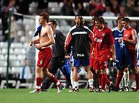 John Arne Riise walks off after final whistle<br /> Liverpool 2004/05<br /> Liverpool V Grazer AK 24/08/04<br /> UEFA Champions League Qualifier 3rd Round 2nd Leg Anfield<br /> Photo Robin Parker Digitalsport