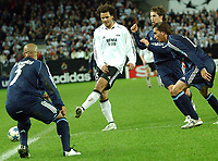 Champions League 01.11.05 - Rosenborg - Real Madrid 0-2<br /> <br /> Daniel Braathen proved to be a handful to Roberto Carlos and Real Madrid<br /> Foto: Carl-Erik Erikson, Digitalsport