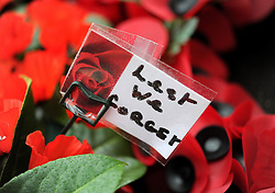 'Lest we forget' - Photo mandatory by-line: Dougie Allward/JMP - Mobile: 07966 386802 - 11/11/2014 - SPORT - Bristol - Memorial Stadium - Remembrance Service
