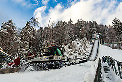 Snow groomer and general view of the hill at preparation of Planica Hill 6 days before FIS Ski Flying World Championships 2020, on December 4, 2020 in Planica, Slovenia. Photo by Matic Klansek Velej / Sportida