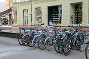 Parked Bicycles in Innsbruck, Austria
