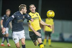 Falkirk's Luke Leahy and Livingston Gary Glen. Falkirk 2 v 0 Livingston, Scottish Championship game played 29/12/2015 at The Falkirk Stadium.