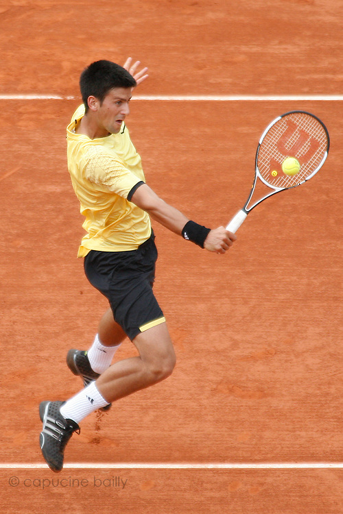 Roland Garros. Paris, France. June 8th 2007..1/2 Finals..Novak DJOKOVIC against Rafael NADAL