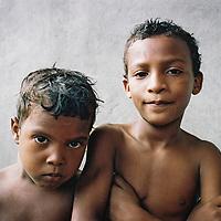 Two boys in Las Guanabanas village, Dominican Republic