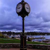 """""""Charlevoix Town Clock""""<br /> <br /> Beautiful town clock in Charlevoix Michigan in the town center over looking the marina!"""