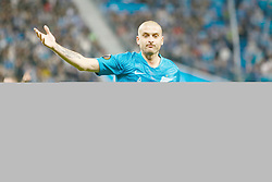 February 21, 2019 - Saint Petersburg, Russia - Yaroslav Rakitskiy of FC Zenit Saint Petersburg gestures during the UEFA Europa League Round of 32 second leg match between FC Zenit Saint Petersburg and Fenerbahce SK on February 21, 2019 at Saint Petersburg Stadium in Saint Petersburg, Russia. (Credit Image: © Mike Kireev/NurPhoto via ZUMA Press)