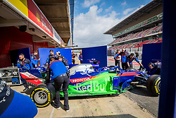 February 19, 2019 - Montmelo, Barcelona, Catalonia, Spain - Barcelona-Catalunya Circuit, Montmelo, Catalonia, Spain - 19/02/2018: Alex Albon of Scuderia Toro Rosso Honda with the new STR14 car during second journey of F1 Test Days in Montmelo circuit. (Credit Image: © Javier Martinez De La Puente/SOPA Images via ZUMA Wire)