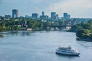 Overlook over Ottawa from Nepean Point, Ottawa,  Ontario, Canada