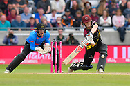 Tom Abell of Somerset goes on the attack during the Vitality T20 Finals Day semi final 2018 match between Sussex Sharks and Somerset County Cricket Club at Edgbaston, Birmingham, United Kingdom on 15 September 2018.