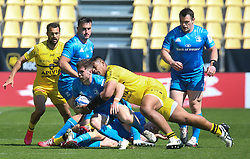 Will Skelton and Victor Vito of Stade Rochelais during the European Rugby Champions Cup, semi final rugby union match between Stade Rochelais and Leinster Rugby on May 2, 2021 at Marcel Deflandre stadium in La Rochelle, France - Photo Laurent Lairys / ABACAPRESS.COM
