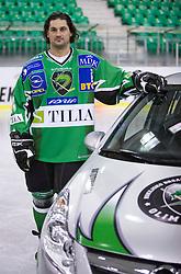 Frank Banham of HDD Tilia Olimpija before new season 2008/2009,  on September 17, 2008 in Arena Tivoli, Ljubljana, Slovenia. (Photo by Vid Ponikvar / Sportal Images)