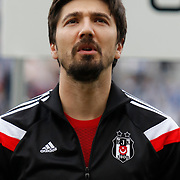 Besiktas's goalkeeper Tolga Zengin during their Turkish superleague soccer match Besiktas between Bursaspor at Ataturk Olimpiyat Stadium in Istanbul Turkey on Sunday 15 February 2015. Photo by Aykut AKICI/TURKPIX