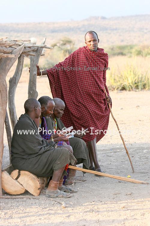 Datoga men. Lake Eyasi, northern Tanzania