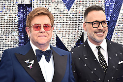 Elton John (left) and David Furnish attending the Rocketman UK Premiere, at the Odeon Luxe, Leicester Square, London.