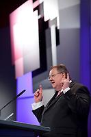 10 JAN 2011, KOELN/GERMANY:<br /> Peter Heesen, dbb Bundesvorsitzender, haelt eine Rede, Politischer Auftakt, 52. Jahrestagung dbb beamtenbund und tarifunion, Congress-Centrum Nord Koelnmesse<br /> IMAGE: 20110110-01-071<br /> KEYWORDS: Köln, speech