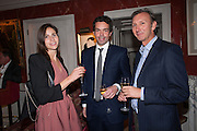 WHITNEY HINTZ; ELLIOT MACDONALD; KEITH COVENTRY, Dinner to celebrate the opening of Pace London at  members club 6 Burlington Gdns. The dinner followed the Private View of the exhibition Rothko/Sugimoto: Dark Paintings and Seascapes.