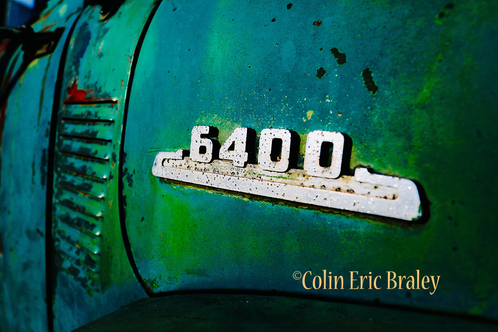 Old Vintage Abstract Truck Wall Art For Sale. 6400 Chevy Truck. Photo by Colin E Braley