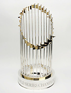 A general view of Major League Baseball's Commissioner's Trophy, better known as the World Series Trophy. (Photo by Ron Vesely).