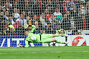 Champions League semi final second leg soccer match between Real Madrid and FC Bayern Munich at the Santiago Bernabeu stadium in Spain - <br /> MADRID 25/04/2012<br /> ESTADIO SANTIAGO BERNABEU.<br /> half final, Halbfinale, Semifinale,  CHAMPIONS LEAGUE<br /> REAL MADRID 2 - BAYERN 1<br /> picture: Manuel NEUER.- fee liable image, copyright © ATP QUEEN INTERNACIONAL<br /> <br /> Real MADRID vs Fc BAYERN Match 2:1 und 3:1 im Elfmeterschieflen - and 3:1 in penalty shooting - Queen photographer Fernando ALVAREZ