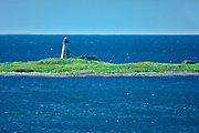 Peter Island Lighthouse in Bay of Fundy<br />Peter Island <br /><br />Canada