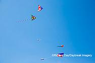 63495-02711 Kites flying at Flagler Beach Flagler Beach, FL