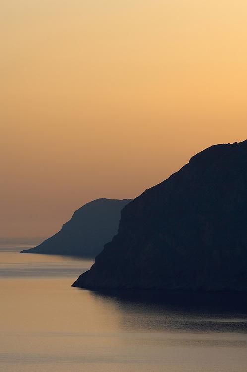 Morning light over the sea near Mochlos, Crete