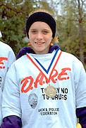 D.A.R.E. participant in the Anoka Halloween Festival age 13.  Anoka Minnesota USA