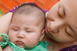 Chinese mother with baby