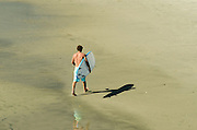 Young Male Surfer on the Beach in San Clemente