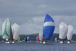 Peelport Clydeport Largs Regatta Week 2013 <br /> <br /> Class 1, Downwind, Fleet, <br /> GBR4041R, Elf Too, First 40, Christine Murray, FYC, GBR8038R, Roxstar, XP38i, Findlay/Anderson, CCC<br /> <br /> Largs Sailing Club, Largs Yacht Haven, Scottish Sailing Institute