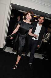 JODIE WHITTAKER and CHRISTIAN CONTRERAS at the Warner Music Group Post Brit Awards Party in Association with Samsung held at The Savoy, London on 20th February 2013.