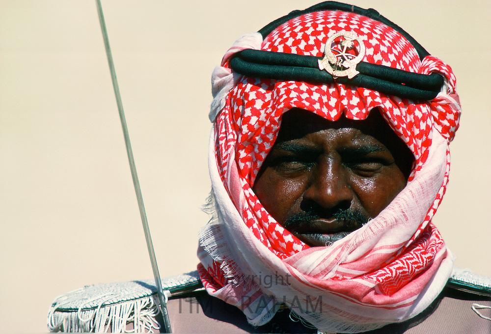 Ceremonial guard in Saudi Arabia