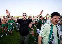 at final match of 2nd SNL league between NK Olimpija in NK Aluminij, on May 23, 2009, ZAK, Ljubljana, Slovenia. Aluminij won 2:1. NK Olimpija is a Champion of 2nd SNL and thus qualified to 1st Slovenian football league for season 2009/2010. (Photo by Vid Ponikvar / Sportida)