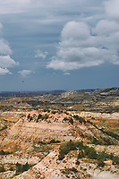Painted Canyon Panorama. Theodore Roosevelt National Park. Composite of 6 of 9 images taken with a Nikon D3 camera and 85 mm f/2.8 PC-E lens (ISO 200, 85 mm, f/16, 1/40 sec). Raw images processed with Capture One Pro (BM-02 Teton Style). Composite generated with  AutoPano Giga Pro.