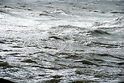 The Hague, South-Holland/Netherlands - 200226: Wild sea with waves on a stormy day