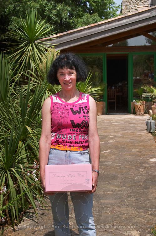 Marlène Soria Domaine Peyre Rose, St Pargoire. Gres de Montpellier. Languedoc. Owner winemaker. France. Europe.