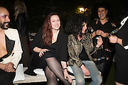 LYALL HAKARAIA, ; ALI RICHARDS; TERRY NIXON;  Sarah Lucas- Scream Daddio party hosted by Sadie Coles HQ and Gladstone Gallery at Palazzo Zeno. Venice. 6 May 2015.