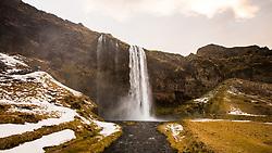 Seljalandsfoss waterfall, Iceland. 09/01/16. Photo by Andrew Tallon